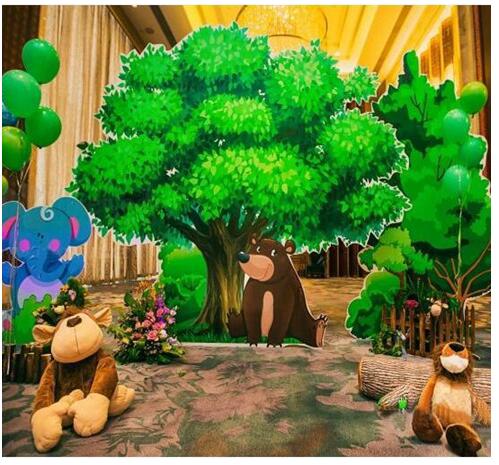 森林主题气球装饰